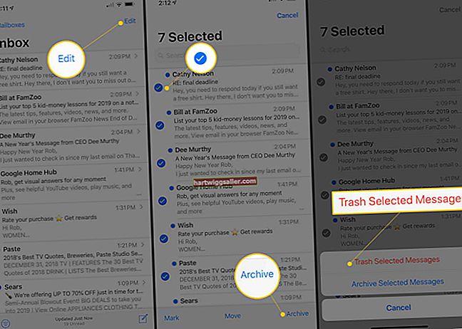 Como encontrar os e-mails arquivados em um iPhone
